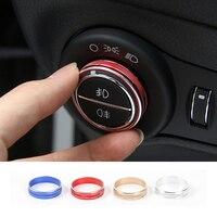 SHINEKA araba Styling alüminyum alaşımlı kafa işık lambası anahtarı düğmesi dekoratif kapak yüzüğü Trim Sticker Fit için Jeep pusula 2017