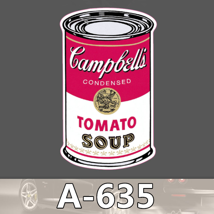 A 635 Tomato Soup Can Waterproof Cool DIY Stickers For Laptop Luggage Fridge Skateboard Car Graffiti
