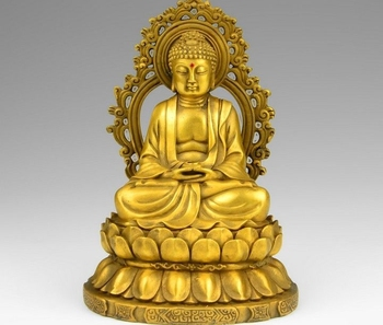 6 Tibet Buddhism Brass Copper Vairocana Rulai Tathagata Sakyamuni Buddha Statue