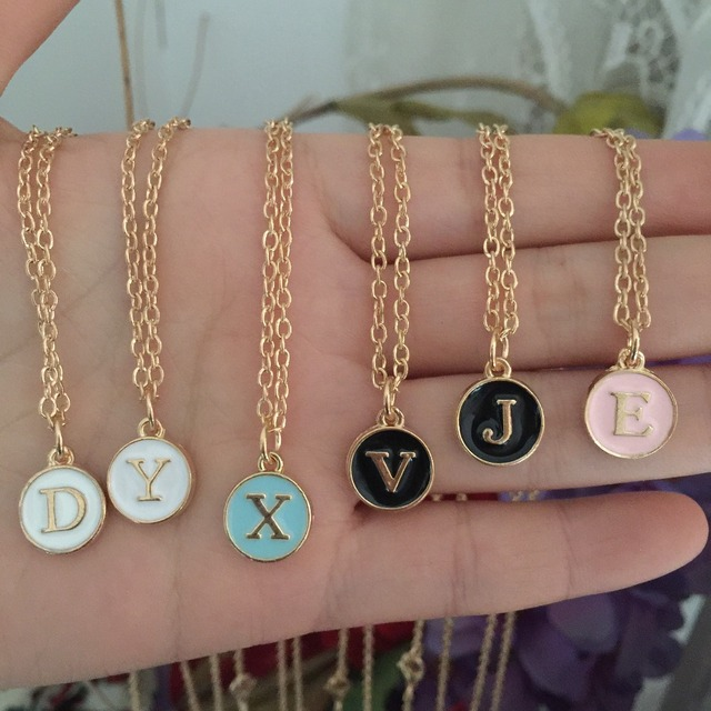 Personalized gold letter pendant necklace initial necklace charms personalized gold letter pendant necklace initial necklace charms gold for women mini letter necklaces jewelry christmas aloadofball Gallery