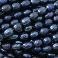 Hot Sale Real Pearl Black Natural Freshwater Rice Beads Fit Gifts Women Buauty Top Quality Loose