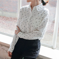 Long Sleeve Shirt Women Tops Print Blouse White Shirts Women Blouses Blusas Mujer De Moda 2017