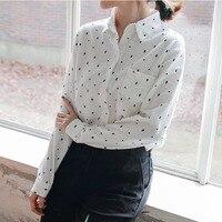 Long Sleeve Shirt Women Tops Print Blouse White Shirts Women Blouses Blusas Mujer De Moda 2017
