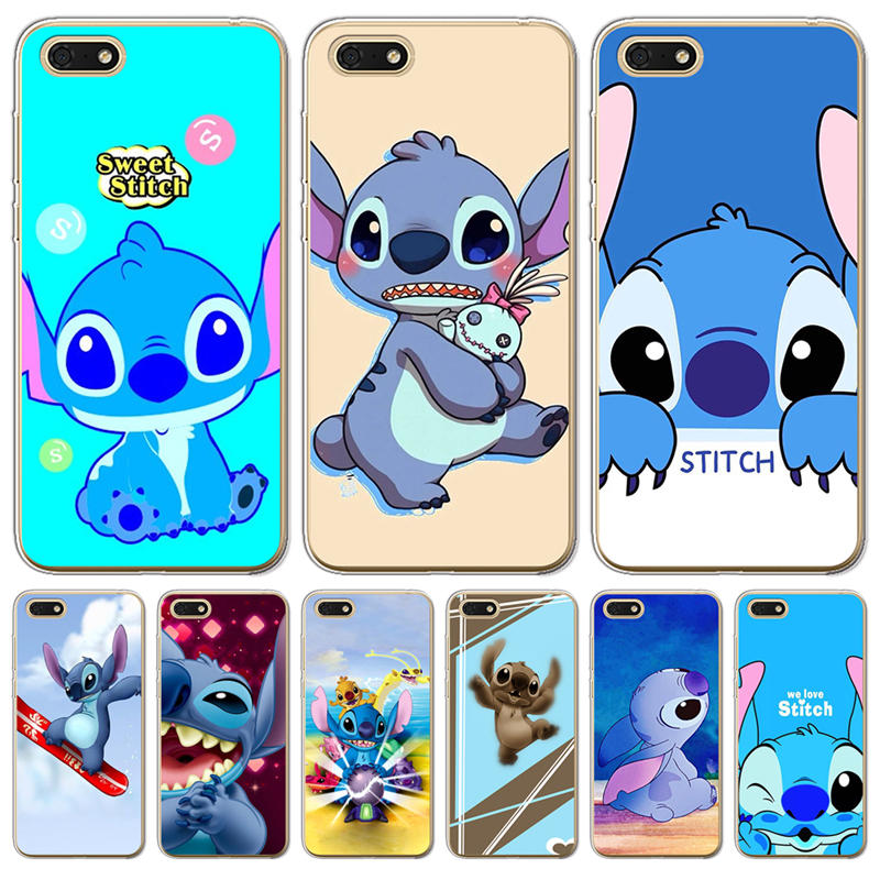 Cover For Coque Huawei <font><b>Honor</b></font> 6X 6A 7 7X 7C 7A pro 8 8X <font><b>9</b></font> 10 <font><b>Lite</b></font> phone Case Soft Silicone cool cute Stitch <font><b>cartoon</b></font> luxury <font><b>bumper</b></font> image