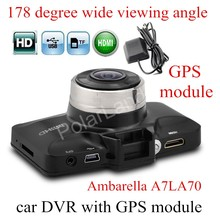 GS98C Ambarella A7LA70 Car Dash Camera Super HD 2.7″ inch LCD screen Video DVR Cam G-sensor with GPS module track record