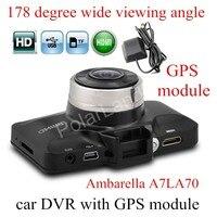 GS98C Ambarella A7LA70 Car Dash Camera Super HD 2 7 Inch LCD Screen Video DVR Cam