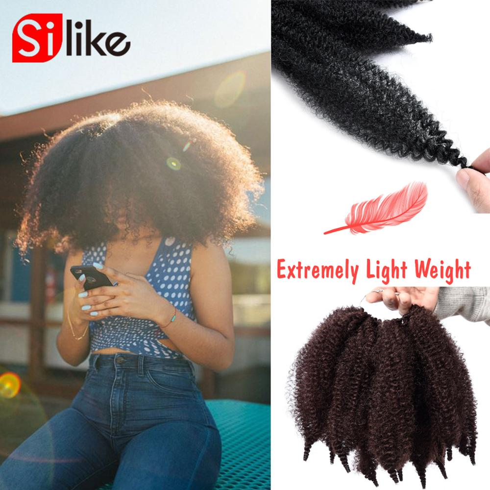 8'' Crochet Marley Braids Black Hair Soft Afro Twist Synthetic Braiding Hair Extensions High Temperature Fiber For Woman(China)
