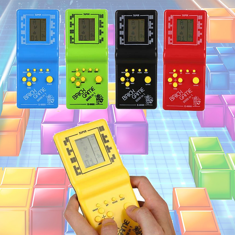 Us 4 99 Video Game Tetris Game Console Brick Hand Brick Tetris Game Toy 2018 Hot Sale Drop Shipping In Handheld Game Players From Consumer