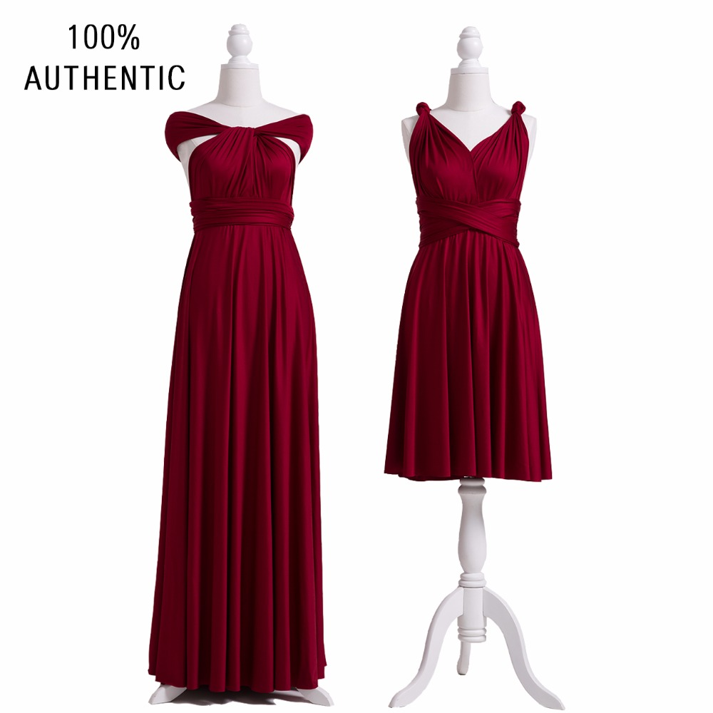 Wine   Bridesmaid     Dress   Convertible Maxi Club Burgundy   Dress   Long   Dress   Party   Bridesmaids   Infinity Robe Longue Femme