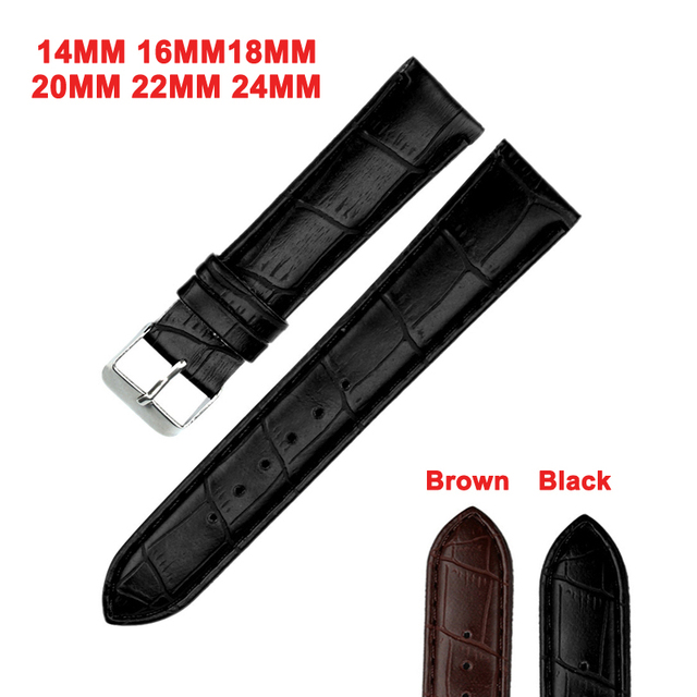 DOM Watch Band S PU Leather Watch Strap Stainless Steel Buckle Clasp Watch Belt