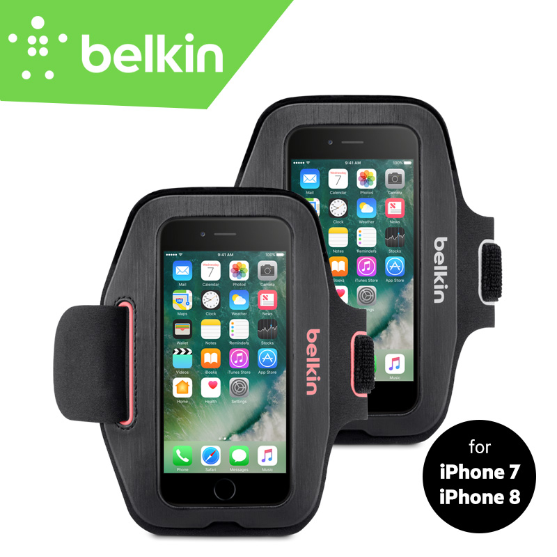 Belkin Original Sport-Fit Jogging GYM Armband Bag Hand-washable Case for iPhone 8/7 4.7 with Retail Packaging F8W797