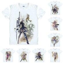 НИР автоматов 2B YoRHa № 2 Тип B»; футболка с Soulcalibur VI Soul Calibur 6 Для мужчин Повседневное футболка Премиум Футболка короткий рукав рубашки