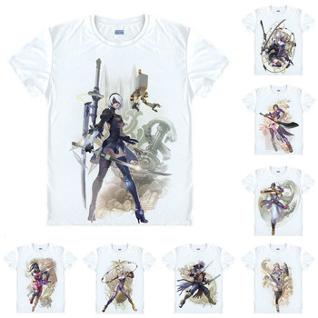 9f5e8bb99 Nier autómatas 2B YoRHa n° 2, tipo B T camisa Soulcalibur VI Soul Calibur 6  casuales de los hombres camiseta camisas manga corta