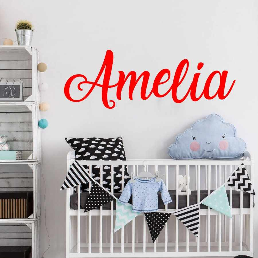 Custom Name Wall Decal, Personalized Wall Sticker, Nursery Decor, Boys Girls Decal, Vinyl Wall Decal beauty salon wall decals