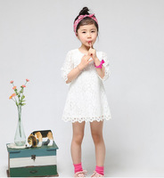 2016 Summer Newest Children Beautiful Lace Princess Dress Flower Girls High Quality Lace Birthday Party Dress