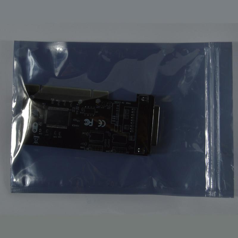 15*20cm Or  5.90*7.87inch Anti Static Shielding Bags Zipper Lock Top Waterproof Self Seal ESD Anti-Static Pack Bag 50pcs/bag