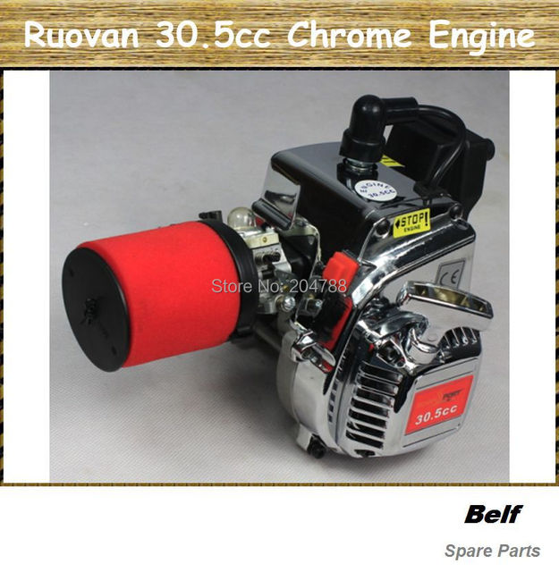 Ruovan 30.5cc Chrome Engine/motor with imported NGK spark and carbulator free shipping
