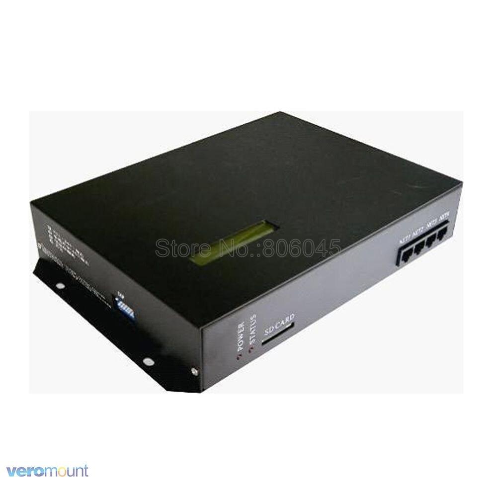 T-200K en ligne LED Pixel DMX contrôleur Programmable 8port * 512 pixel 4096 pixels DC5-24V pour WS2812 WS2811 6803 WS2801 Pixel rayure