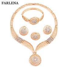 FARLENA Imitation Gold Jewelry Dubai Jewelry Set Top Gorgeous Nigerian Wedding African Beads Jewelry Set For Women