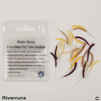 Riverruns Realistic Flies 24pc Bag UV Flies May Fly Dry Tube Body 4 Color 3 Size