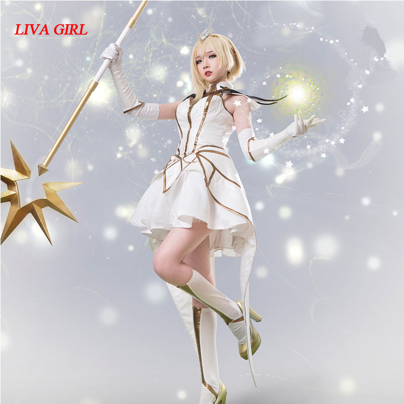 2017 Game LOL the lady of Luminosity Luxanna Crownguard Cosplay Costume dress suit for Halloween Carnival cosplay