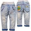 Calças de brim 3865 primavera crianças calças de brim do bebê meninos calças de brim do bebê meninos suave luz azul denim calças outono calça casual criança calças não se desvanece 2016