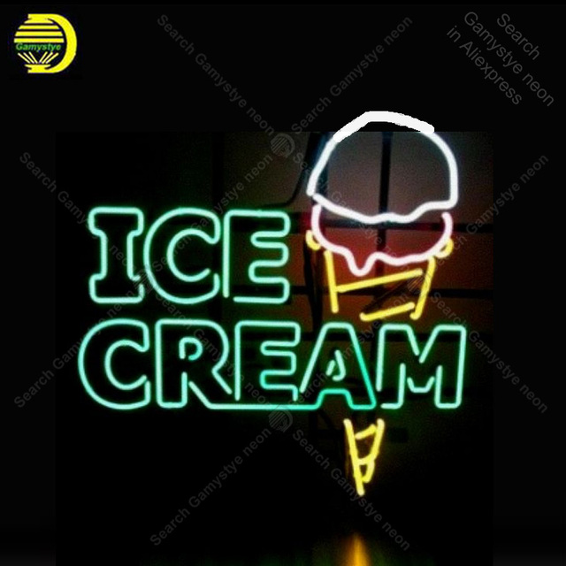 Icecream Neon Sign Bulb Handcrafted Iconic Sign Custom Beer light Neon Art Lamps Sign store display advertise enseigne lumine