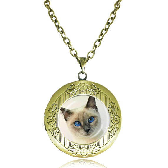 cat brass key by lovelockets locket pin lockets chain feline