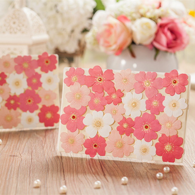 Baby Shower Decor With Flowers ~ Aliexpress buy rose inviting card paper elegant baby