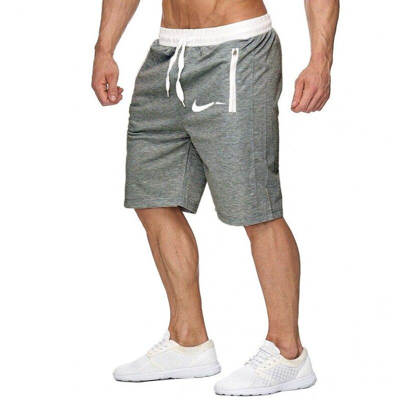 2019 Men's Fitness Short Jogging Sports Fitness Shorts Summer New Fashion Men's Casual Knee Shorts Elastic Beach Men's Shorts
