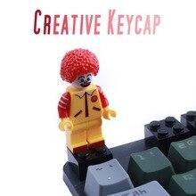 Teclado de computador, pbt personalizado dos desenhos animados criativo r4 esc gaming keycap fundo retroiluminado para cherry mx tampa de chave do teclado mecânico
