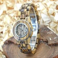 Zebra Wood BEWELL Relojes para Las Mujeres Pantalla Analógica Fecha deportes Reloj Masculino Del Relogio Relojes de Cuarzo de Las Mujeres Con la Caja 100AL