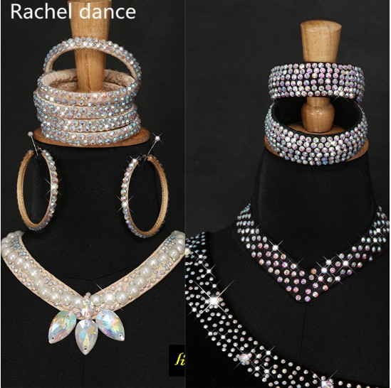 11 Colors Cheap Dance Jewelry Oriental Dance Costume Accessories Sequins Beaded Adjustable Latin Dance Necklace Oriental Jewelry(China)