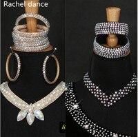 11 Colors Cheap Dance Jewelry Oriental Dance Costume Accessories Sequins Beaded Adjustable Latin Dance Necklace Oriental Jewelry