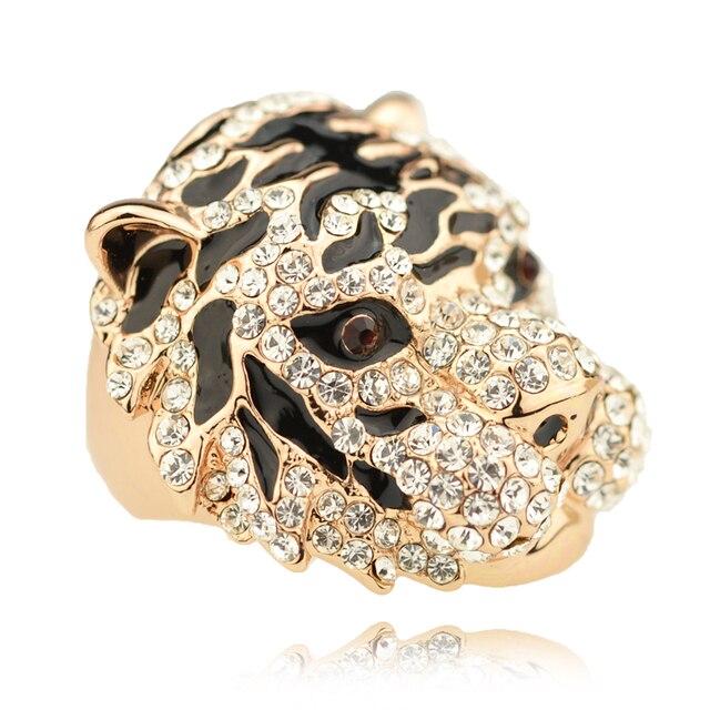 Engranaje del tigre anillo para hombre accesorios femeninos diseño original de la joyería