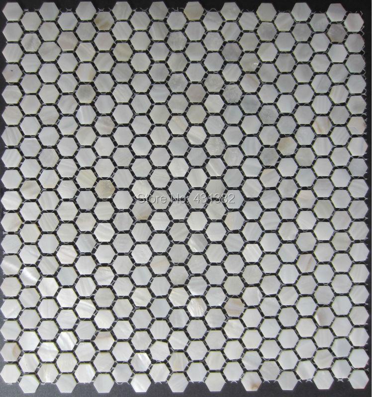 Hexagon Tile Pearlmother Of Pearl Tile Hexagon 15mmshell