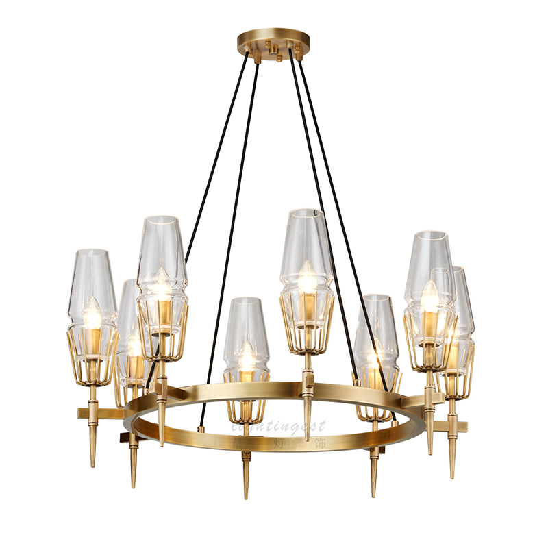 Modern Led Chandeliers Ceiling Fixtures Gold Copper Gl Home Decoration Hanging Lamp Design Creative Indoor Lighting