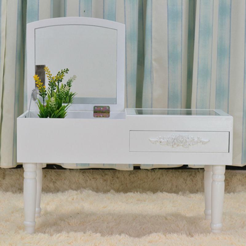 Modern Mini Dressing Table Mirrored Dresser Makeup Vanity