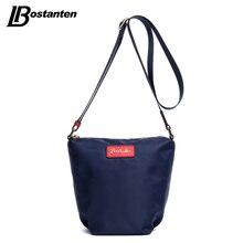 Bostanten Umhängetasche Mode Marke Nylon Sattel-geformt Mode Lässig Blau Top Zip Kleine Schultertasche Crossbody Taschen Frauen