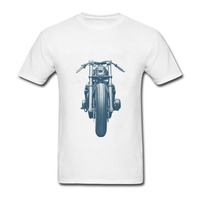 Spring Casual T Shirts Printed Teenage Motorcycle Blaster Cafe Racer Light Short Sleeve Tee Shirts Orangic