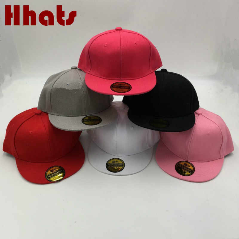 94a4d7065715c which in shower children s hip hop cap solid adjustable flat brim baseball  cap casual outdoor blank