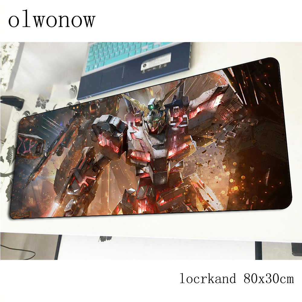 GUNDAM Mousepad 80x30cm Popular Gaming Mouse Pad Big Gamer Mat Best Seller Computer Desk Padmouse Keyboard Large Play Mats