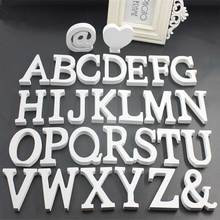 1Pcs White English Alphabet Crafts Accessories Handcrafts Ornaments DIY Name Design Standing Wedding Decoration Home Decor