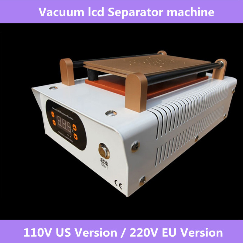 LCD Screen Separator Machine Touch Screen Digitizer Removal Cell Phone LCD Glass Plate Build in Pump