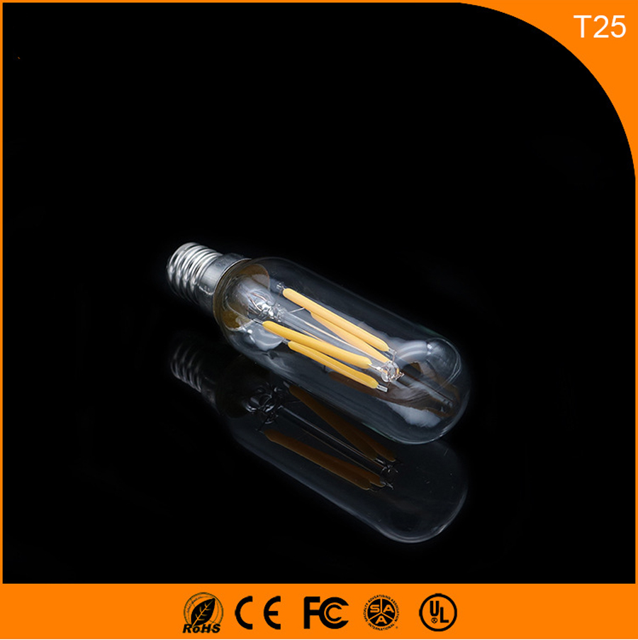 50PCS 3W E14 Led Bulb, T25 LED COB Vintage Edison Light ,Filament Light Retro Bulb AC 220V 5pcs e27 led bulb 2w 4w 6w vintage cold white warm white edison lamp g45 led filament decorative bulb ac 220v 240v