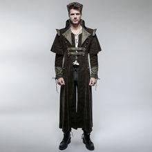 Punk Rave Mens Coat Long Jacket Brown Gothic Steampunk VTG Regency Highwayman