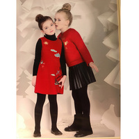 Fantasias Infantis Para Menina Wedding Dress Girl Red Printed Princess Dress For Girls Birthday Party Girls Summer Dresses
