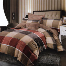 Colour Plaid Kids Fitted Sheet Single Bed Linen 4pcs Bedding Set Single Twin Queen Size Duvet Cover 150x230 180x230 200x230 1.5m(China)