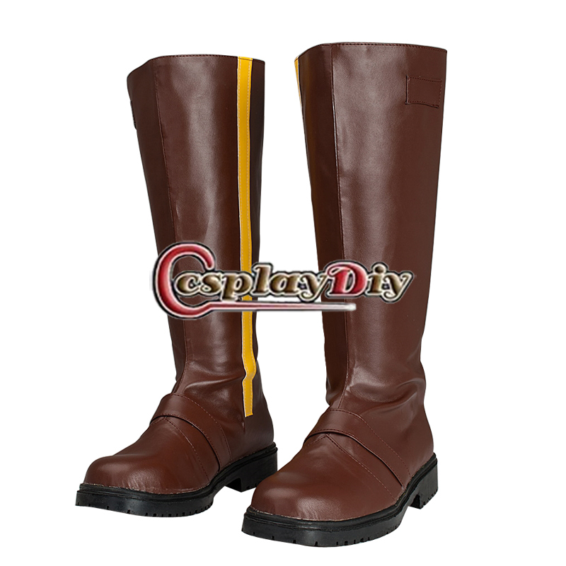 RWBY Yellow Trailer Yang Xiao Long Cosplay Boots Shoes Anime Auby Long Boots Custom Made