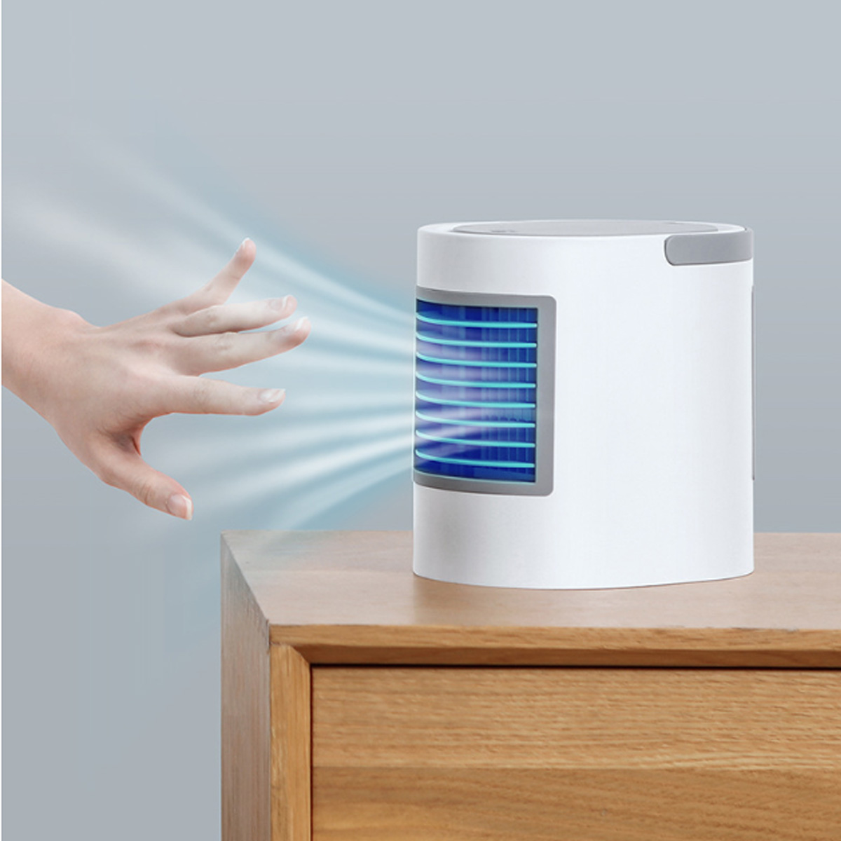 USB Mini Portable Air Conditioner Humidifier Purifier LED night Light Desktop Air Cooling Fan Air Cooler Fan for Office HomeUSB Mini Portable Air Conditioner Humidifier Purifier LED night Light Desktop Air Cooling Fan Air Cooler Fan for Office Home